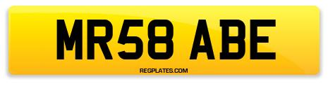Registration MR58 ABE