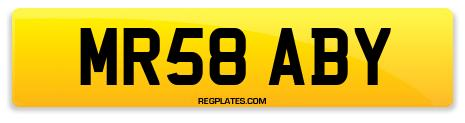 Registration MR58 ABY