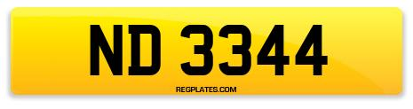 Registration ND 3344