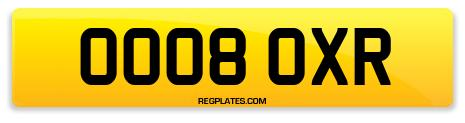 Registration OO08 OXR
