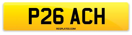 Registration P26 ACH