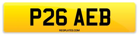 Registration P26 AEB
