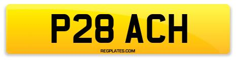 Registration P28 ACH