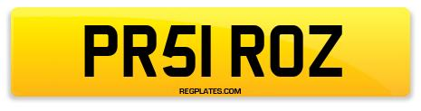 Registration PR51 ROZ