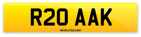 Registration R20 AAK