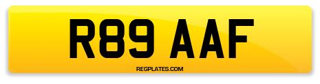 Registration R89 AAF