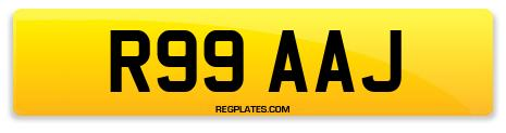 Registration R99 AAJ