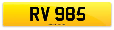 Registration RV 985