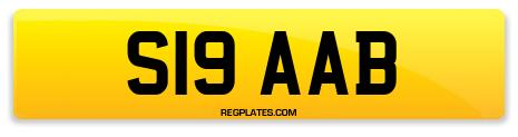 Registration S19 AAB