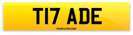 Registration T17 ADE