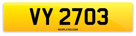 Registration VY 2703