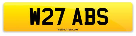 Registration W27 ABS