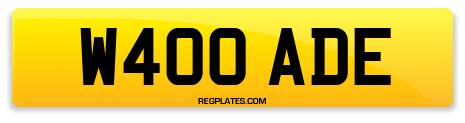 Registration W400 ADE