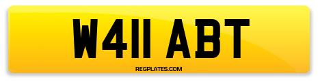 Registration W411 ABT