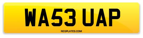 Registration WA53 UAP