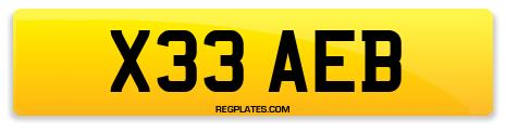 Registration X33 AEB