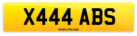 Registration X444 ABS