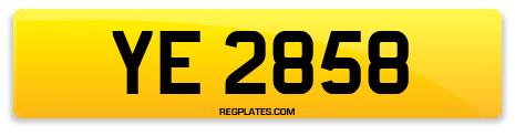 Registration YE 2858